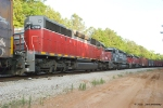 These three SD40s are off lease and awaiting disposition