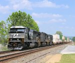 SD60E rebuild 6953 leads intermodal train 211 towards Hagarstown MD