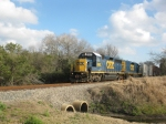 CSX O708 leads their train NB toward the 15th. St. crossing