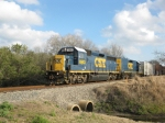 CSX O708 leads their train NB toward the 15th. St. crossing after interchanging with SGLR