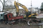 Demolishing Old Rail Cars