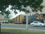 CSX switcher pushing consist back to the yard