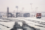 NS yard in the snow storm