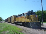 UP 369 and its 4-car train