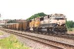 Eastbound coal train rolls through Division