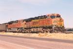 Westbound coal train waits in yard