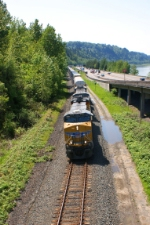 Racing Freight along the river