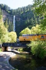 Tall falls and fast trains