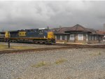CSX 5343 Rolling past the Deshler Depot
