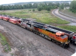 BNSF 4834 leads intermodal in St. Paul