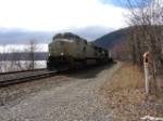 Westbound NS van train with primer leader