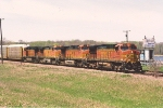 Eastbound vehicle train