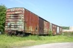 Some old PC boxcars on an abandoned Eureka Mine branch