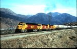 Red and Yellow 5821 & 5331 881Train on Cajon Pass