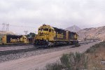 SD45-2u 5826 in Helper Service on Cajon Pass.