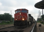 CN 2666 and 5336 lead this westbound