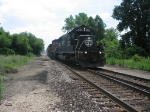 IC 6000 swings into the Chicago Wye