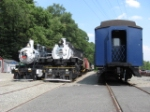 Steam locomotives and a former CNJ coach at the Whippany Railway Museum