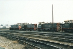 Group of SW1500s at Roseville