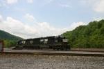 NS 6316 waits to shove coal loads