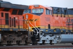 Close up shot of BNSF 7856 as she rolls into East Barstow, Ca.