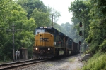 CSX SD80MAC #4596 lead as eastbound coal train
