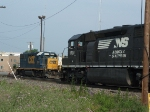 NS #1701 (SD 45-2) and CSX #2814 (GP 38-2)