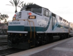 860, the first Metrolink engine in the new paint scheme in Fullerton!