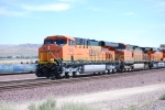BNSF 7849 rolls past me with her sister BNSF 7850 as the third unit.