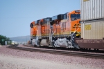 BNSF 7850 with her sister BNSF 7849 leading this trio of GE power rolls west past me towards Cajon Junction, Ca.