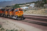 BNSF 7844 with BNSF 4070/BNSF 4082 behind her roll east into the BNSF Barstow yard with a Hot Z.