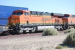 BNSF 7826 and BNSF 7359 roll by me as they proceed east towards the BNSF Barstow yard.
