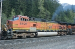 BNSF 4402 working hard