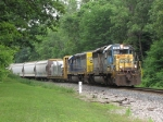 CSX 8106 & 8357 roll around the curve with Q327-13