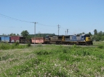 After meeting K653 at Fox, CSX 7639 & 9039 resume their eastward trip with Q326-19