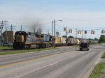 CSX 7602 & 7624 cross Ivanrest starting west with K609-18