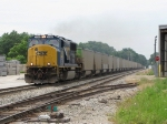 CSX 4568 nears Seymour with the 100 empty coal gons of N895-19