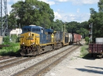 Q335-10 enters the double track at Seymour lead by CSX 5458