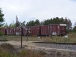 Some boxcars on a siding at Potlatch