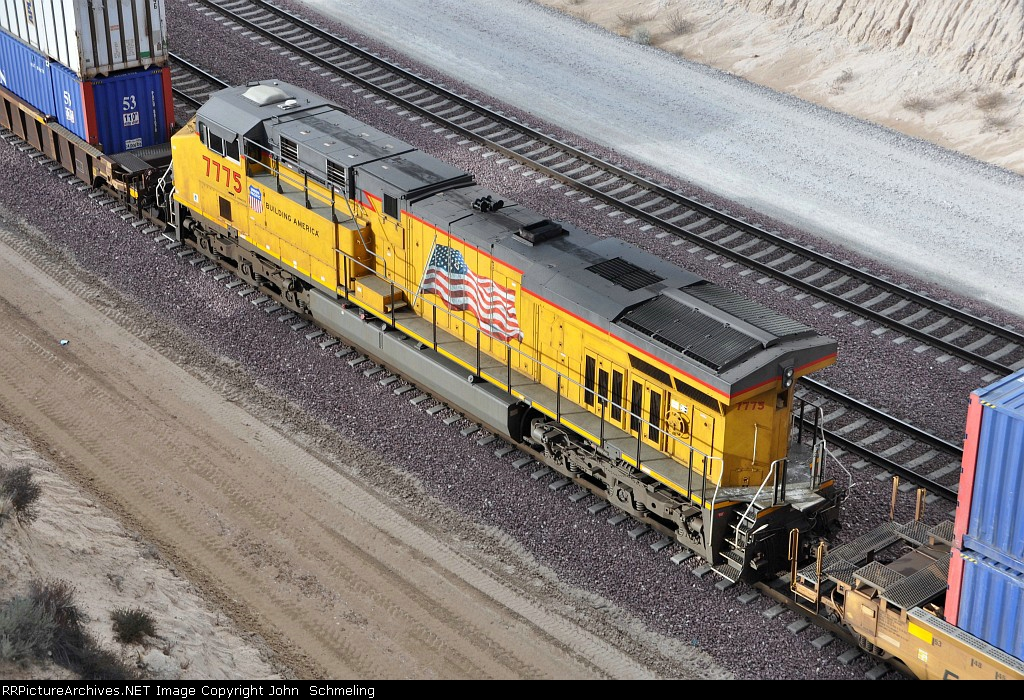 UP 7775 (ES44AC) at Cajon Summit CA. 12/29/2009