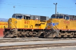 UP 8107 (SD9043MAC) & UP 5390 (ES44AC) at the service tracks at West Colton CA. 1/19/2010