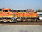 BNSF 7723 & 7298 both ES44DC's at Rana-San Bernardino CA. 6/19/2010