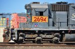 UP 2694 (SD40M-2) at West Colton CA. 10/31/2009