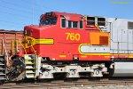 BNSF 760 (C44-9W) at West Colton CA. 10/28/2009