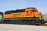 BNSF 3203 new image (GP50) San Bernardino CA.  3/13/2010