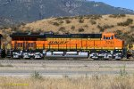 BNSF 3744 is new and clean on a westbound intermodal at Verdemont CA. 6/27/2017