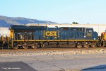 CSX (ET44AH) #3402 a new Tier 4 Gevo on a westbound BNSF stack train at Verdemont CA. 7/3/2017