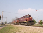 The A&M Monett Turn passes southward through Exeter. Near MP 300.