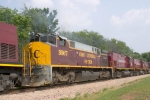 Ex-OHCR 3567, recently purchased by A&M, helps power the Monett Turn.