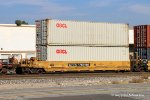 DTTX 760186-B with Containers OOLU 881714 & OOLU 706591. Verdemont CA. 9/30/2017